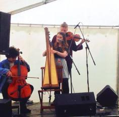 2015 - performing with Josie Duncan and Harry Gorski-Brown at HebCelt